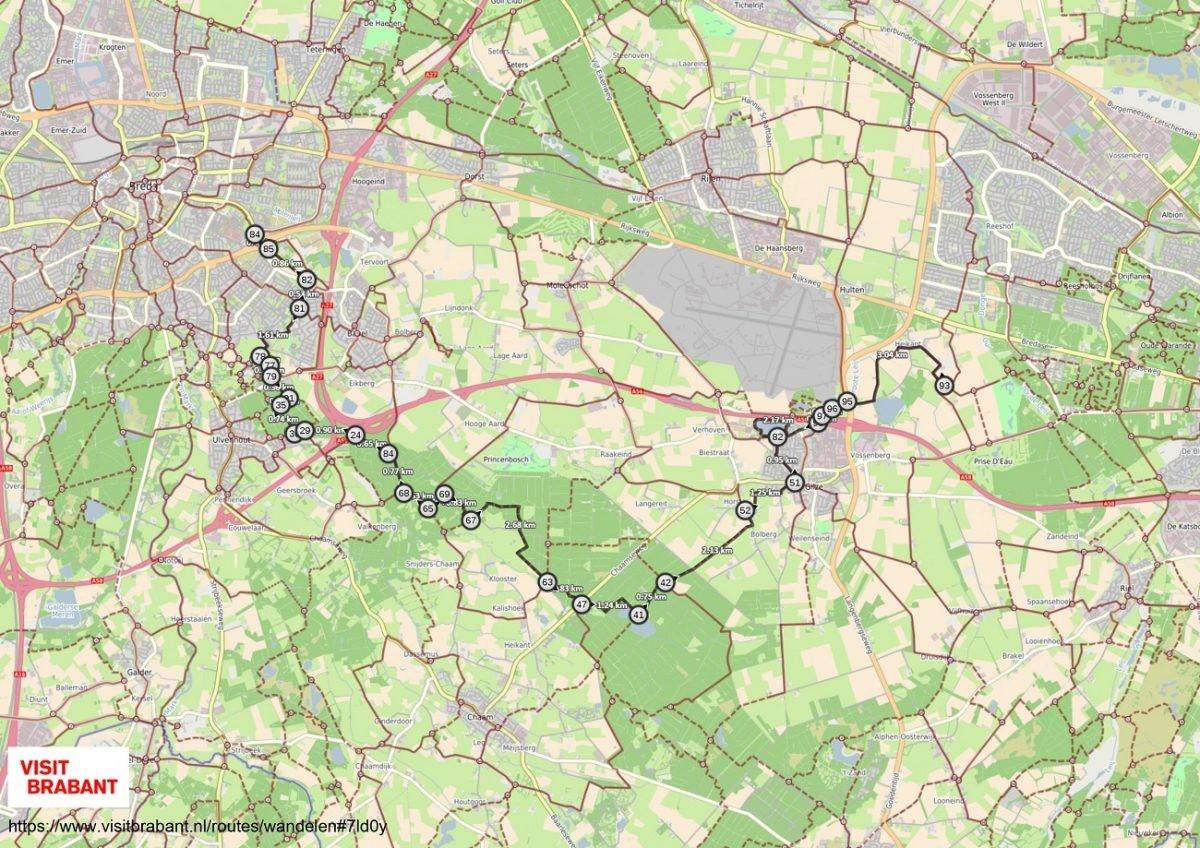 Wandelroute Breda Tilburg