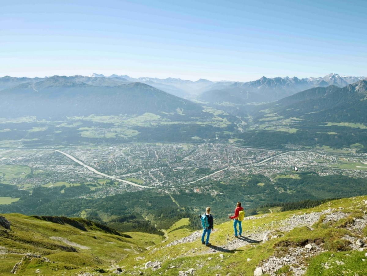 Zicht op Innsbruck. Foto: Innsbruck Tourismus EdiGroeger