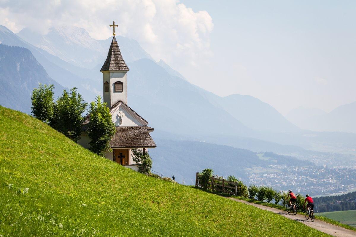 Zicht op het dal van Innsbruck. Foto: Erwin Haiden