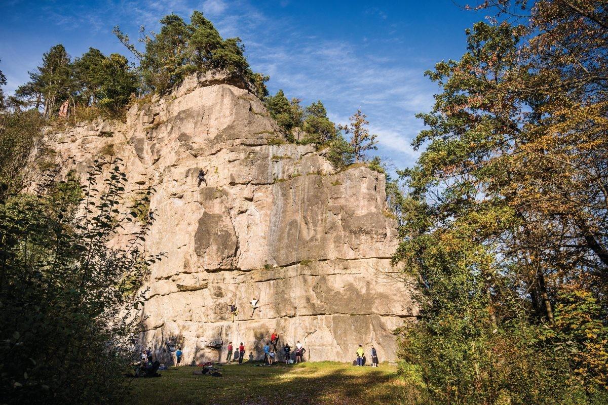 Höttinger Steinbruch, vlakbij de stad. Fot0o: Innsbruck Tourismus, Tommy Bause