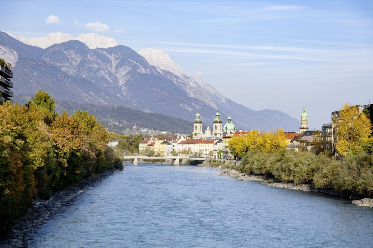 De Inn, naamgever van de stad. Foto Innsbruck Tourismus Mario Webhofer