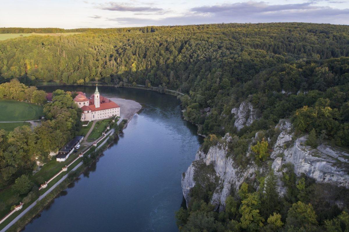 Het klooster Weltenburg langs de Donau. Foto: www.bayern.by - Peter von Felbert