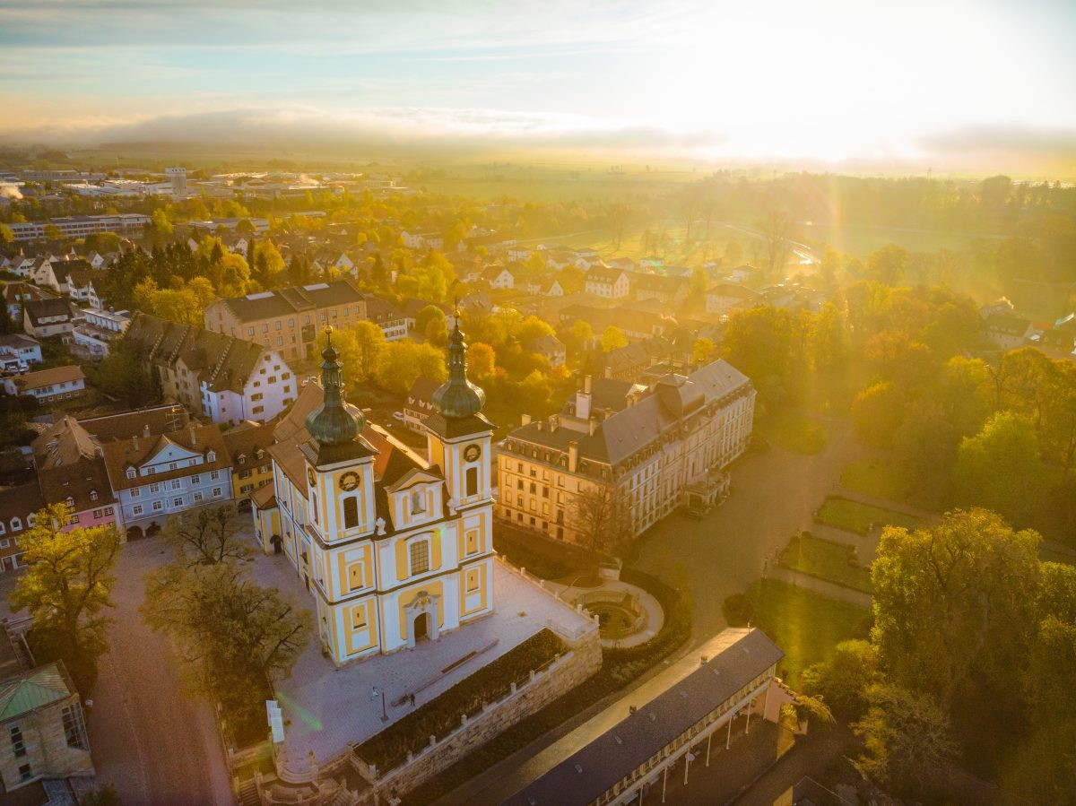 Donaueschingen vanuit de lucht. Foto: Stadt Donaueschingen, Tobias Raphael Ackermann