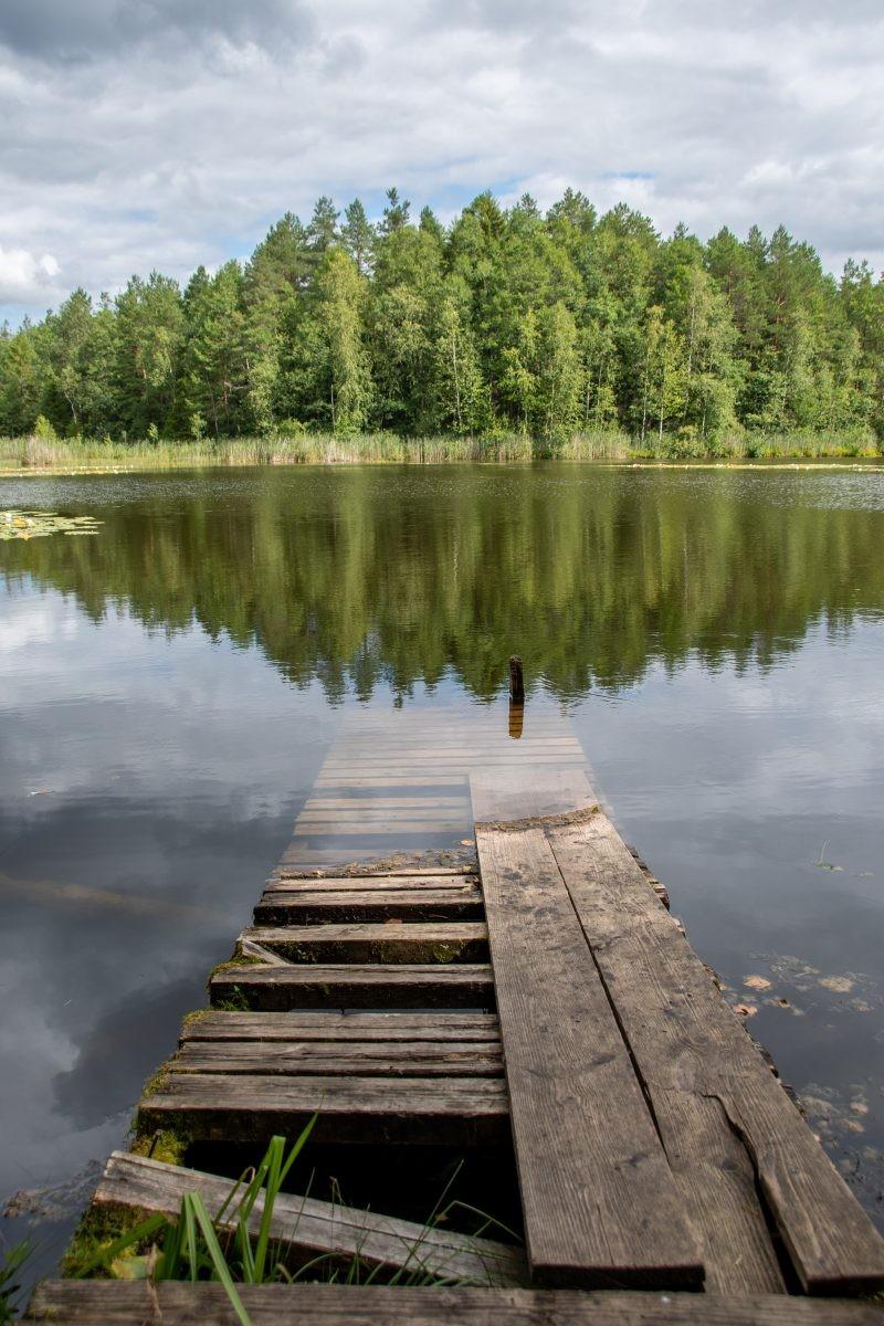 Mijn favoriete foto, een oude steiger in het water.