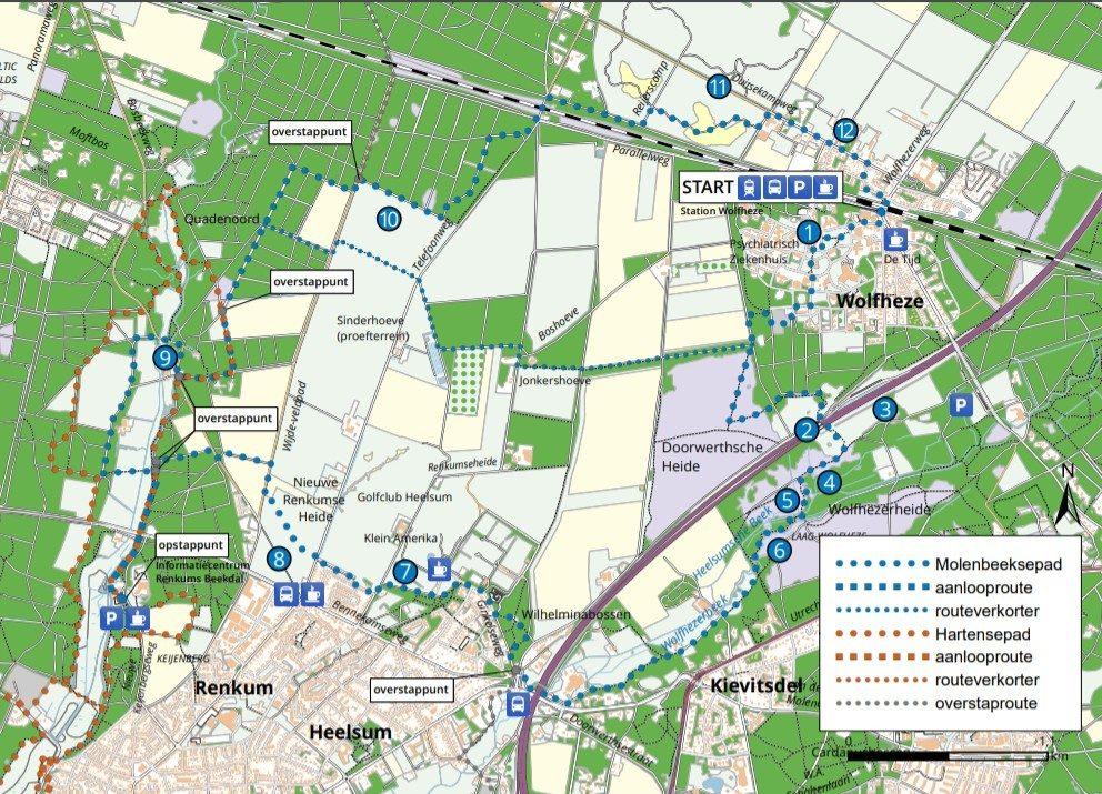 routekaart Molenbeeksepad
