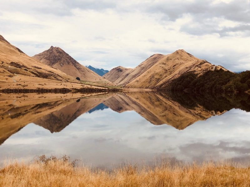 Perfecte reflectie in Moke Lake