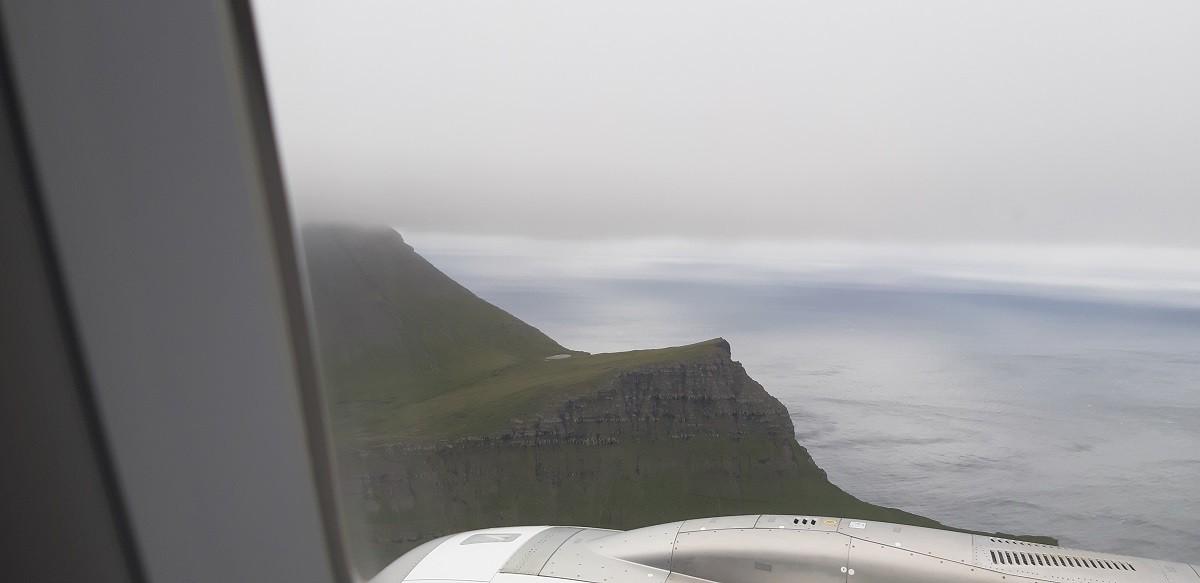 Aankomst Vágar met vliegtuig