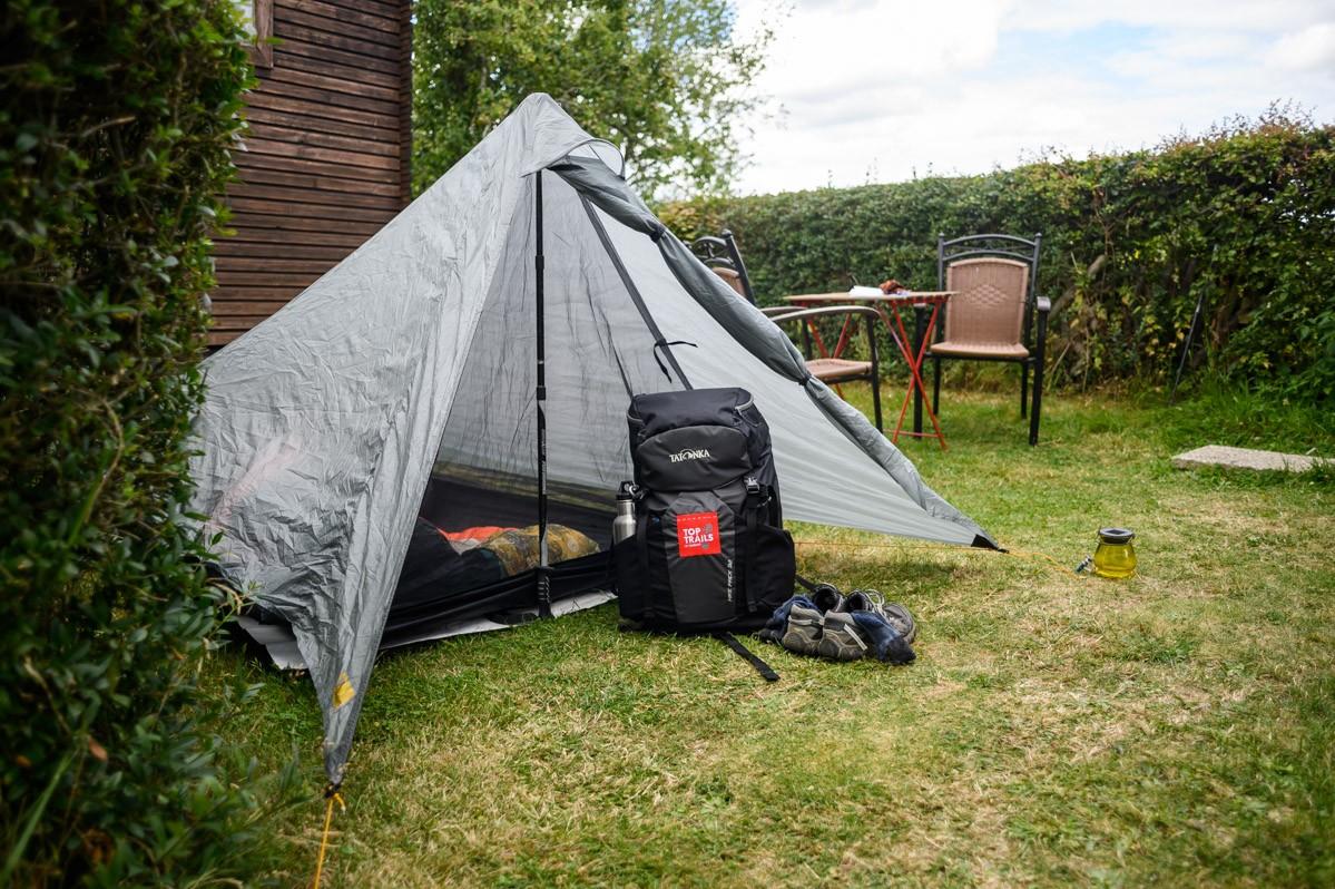 Tent met Top Trails rugzak
