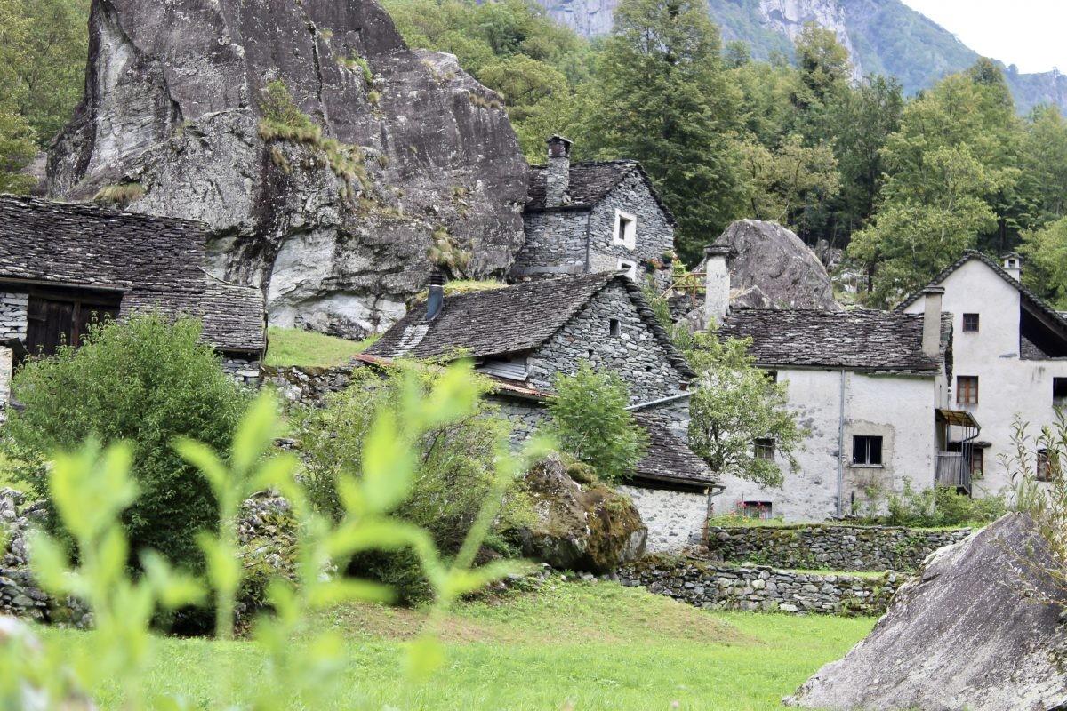 Sabbione in de vallei van Bavona
