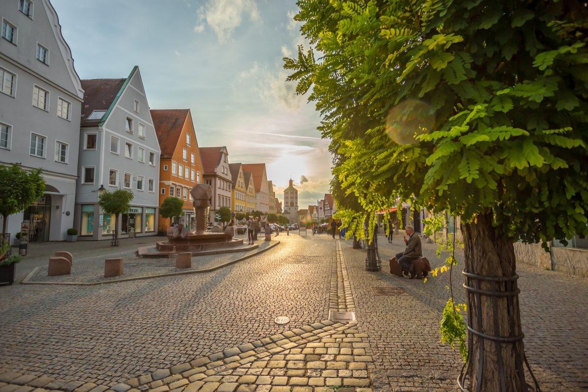 De Marktplatz in Günzburg. Foto: Philipp Röger für die Stadt Günzburg