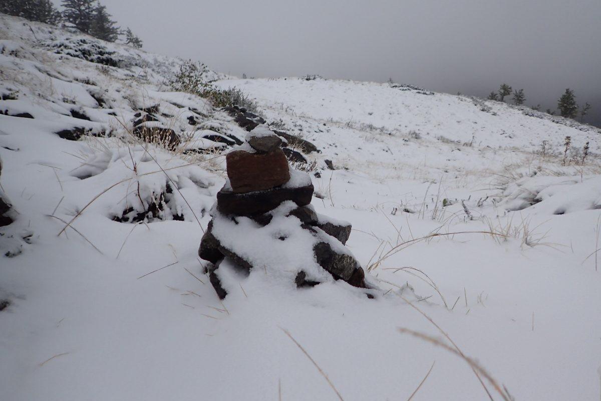 Op weg in de eerste sneeuw
