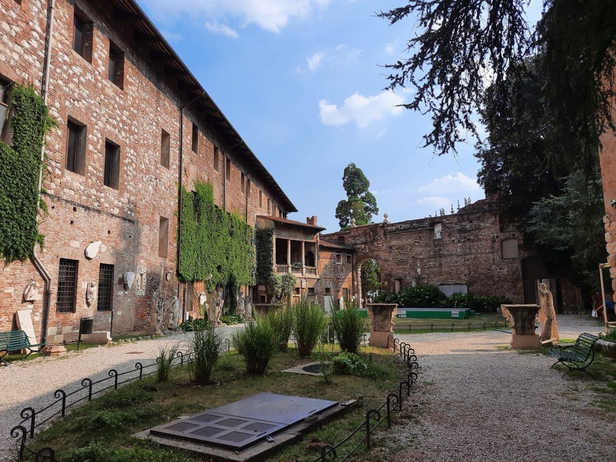 Vicenza de binnentuin van het Teatro