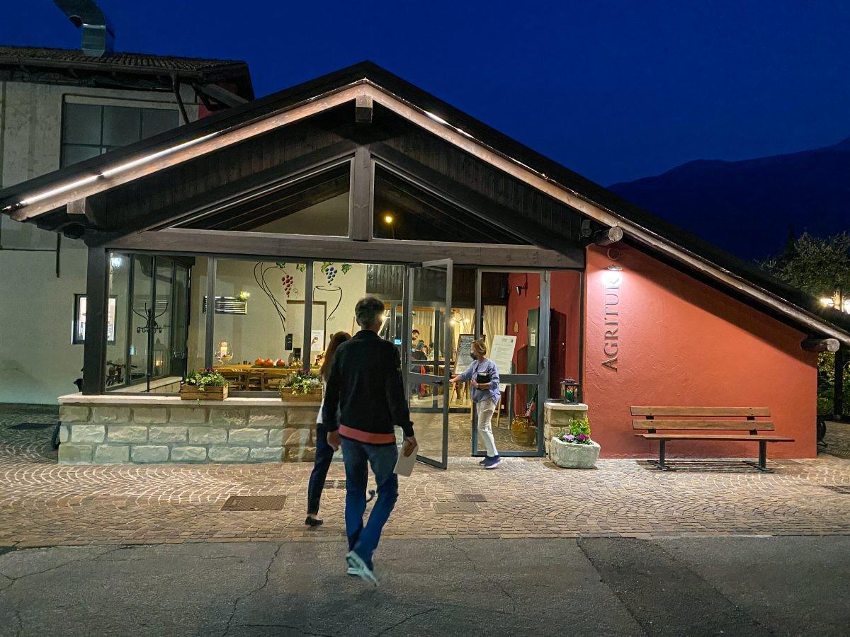 Het restaurant. Madonna delle Vittorie