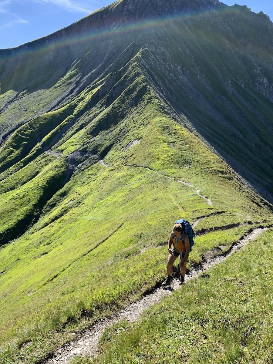 Omhoog wandelen in Oostenrijk, bergwandelen