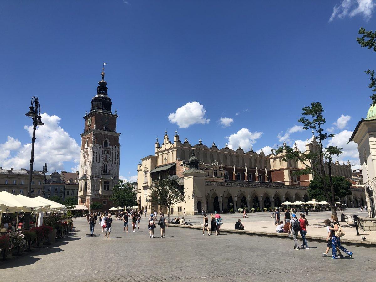 Krakau, de sfeer op het centrale plein
