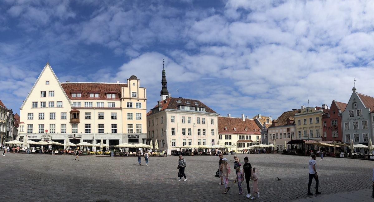 Het centrale plein in Tallinn