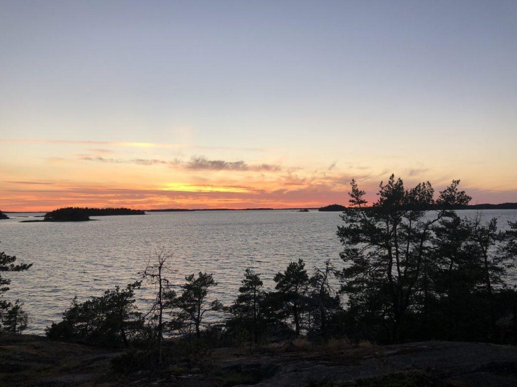 Finse zonsondergang