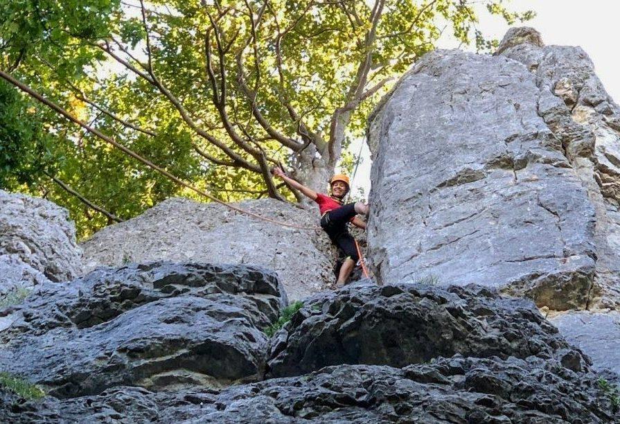 In mijn sas op de Hohenneuffen rots. Foto: Hannah Sophia, Purpose Lab