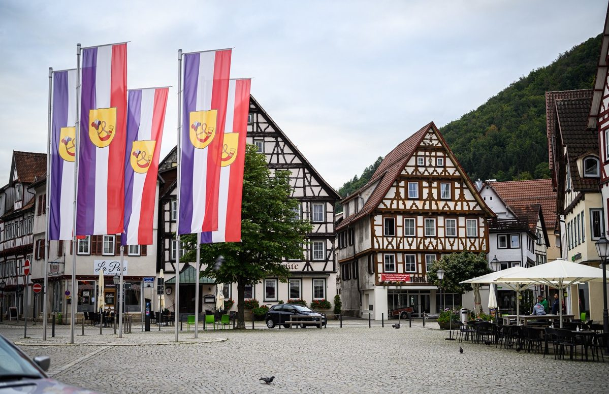 Bad Urach - dorpsplein