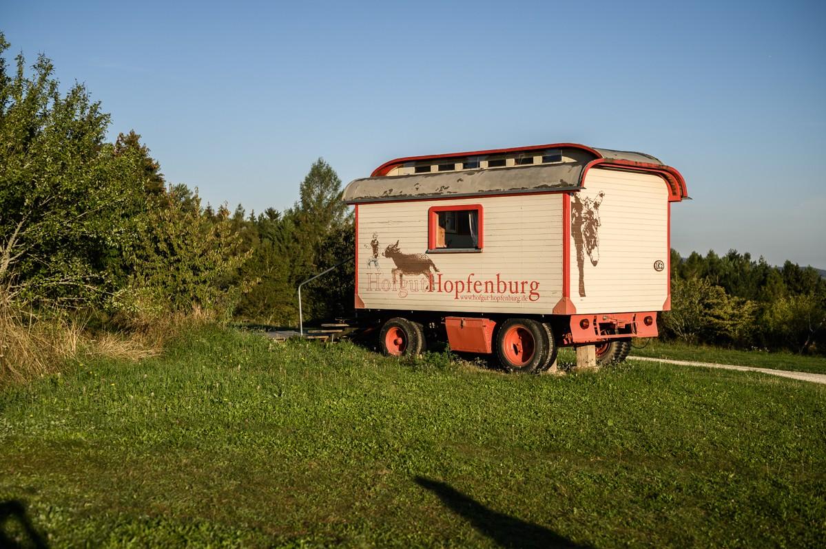 Een van de 'Schäferwagens'.