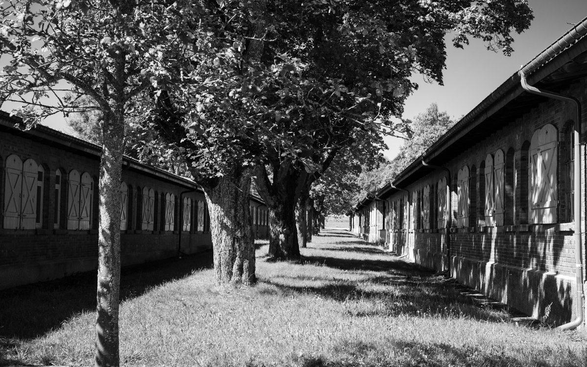 De militaire barakken in het Albgut gebied. Foto: Manja Herrebrugh