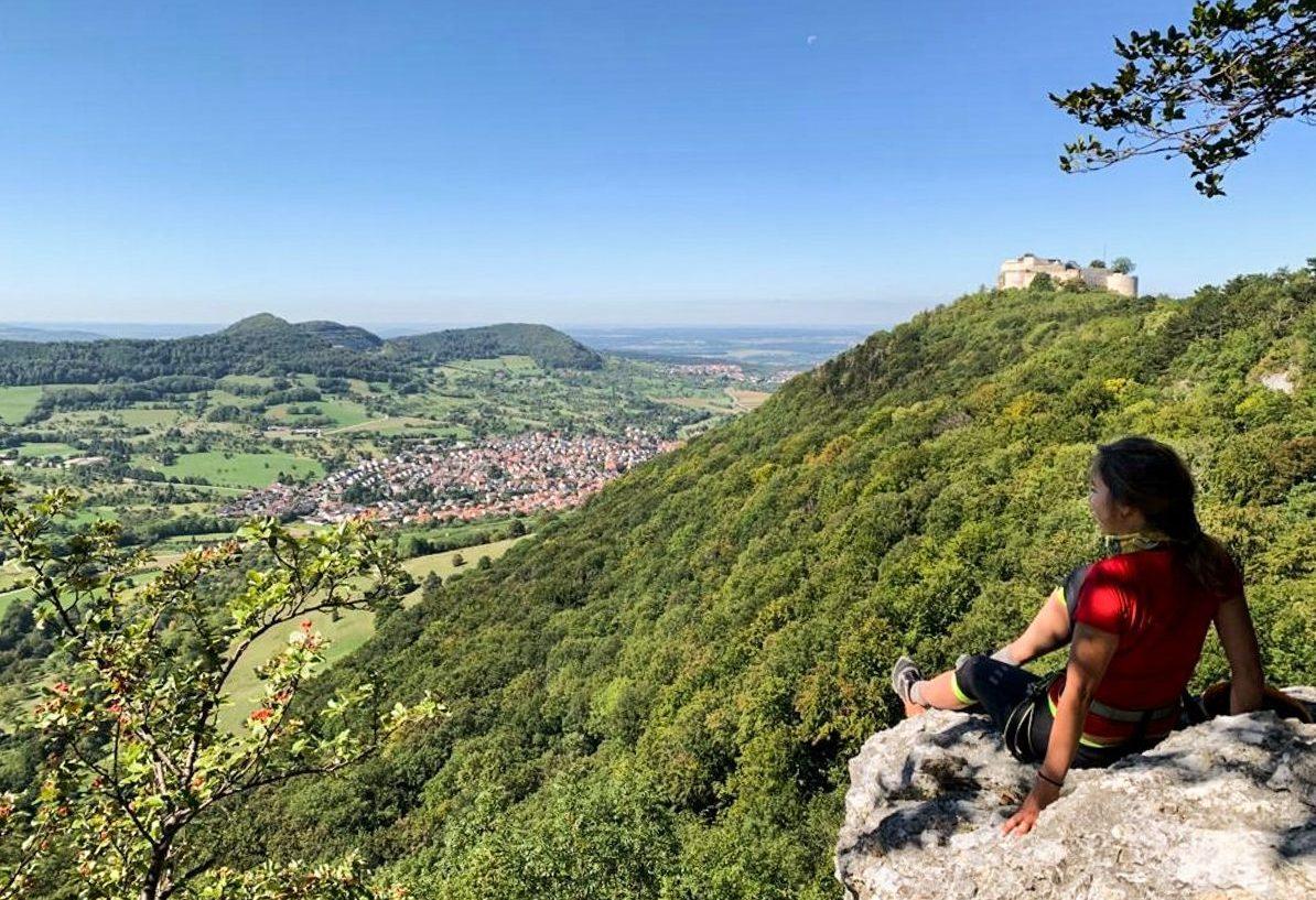 Zicht op Burg Hohenneuffen