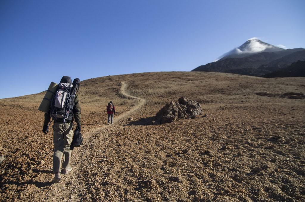 Het topje van de Teide piept overal bovenuit. Copyright Turismo de Tenerife