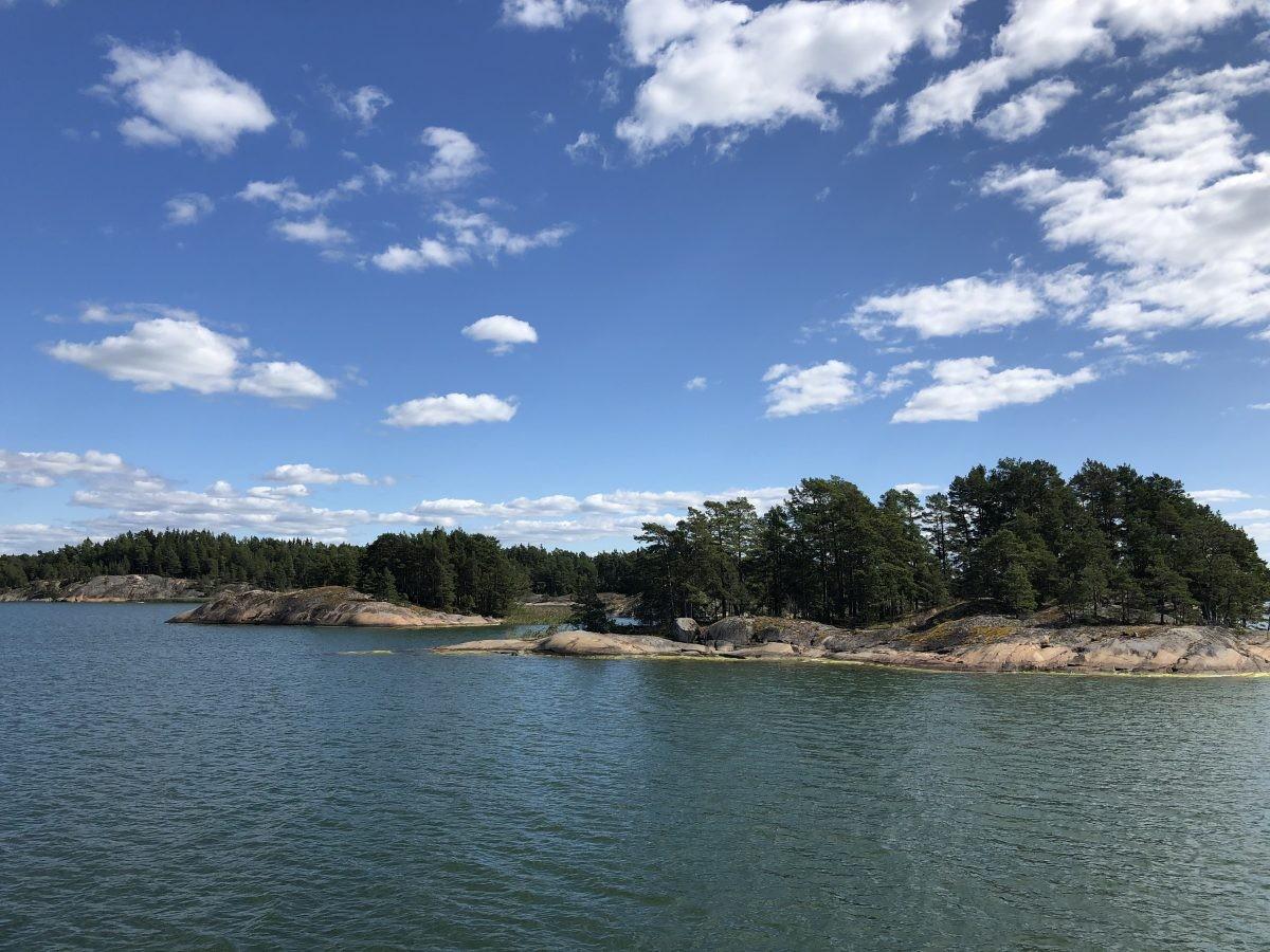 Water en kleine eilandjes