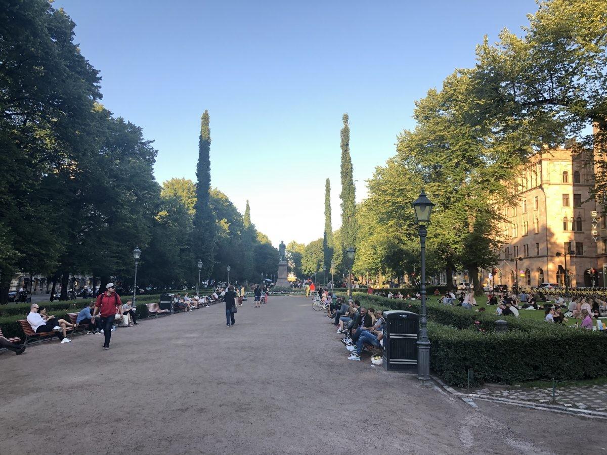 Eén van de mooiste en gezelligste parken midden in de stad