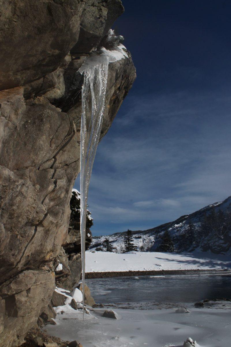 IJspegel winterwandeling
