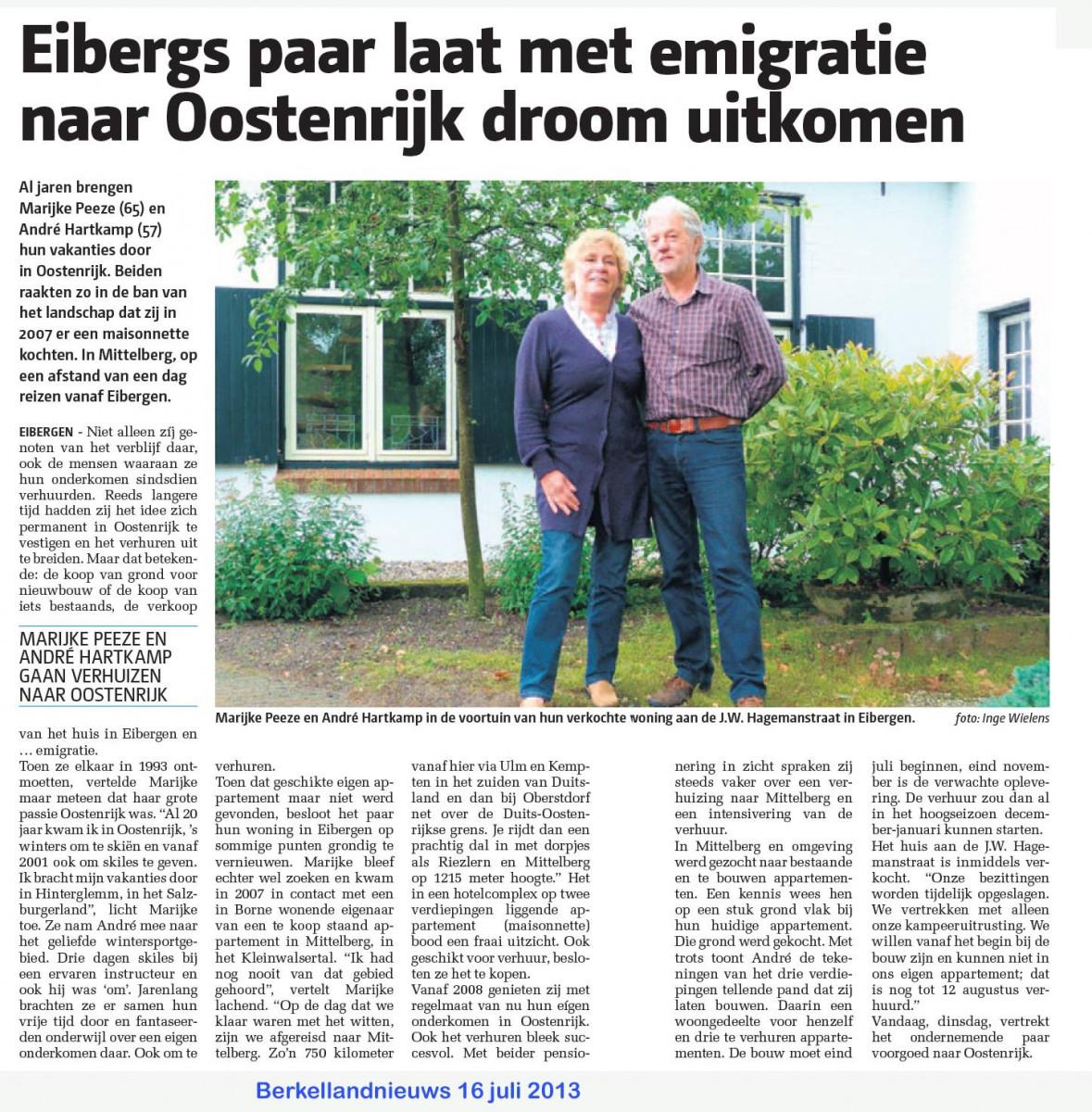 2013 verhuizng naar Mittelberg