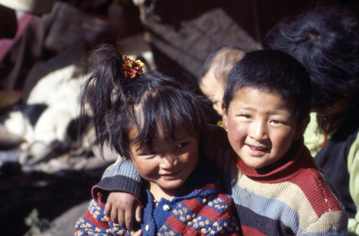 Kinderen van de tentwinkeleigenaar. Foto: Myra de Rooy