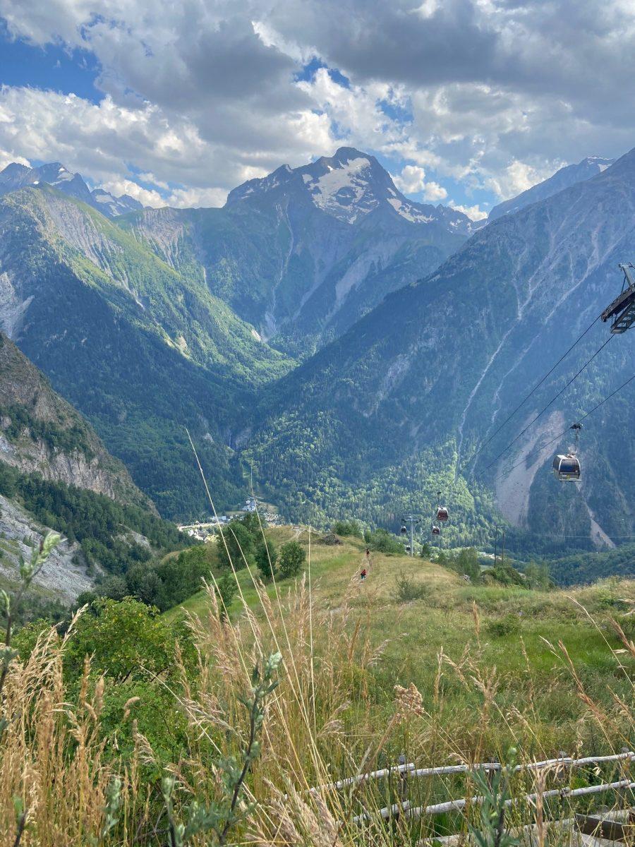 De gondel vanuit Venosc naar Les Deux Alpes. Foto: Maaike Somers