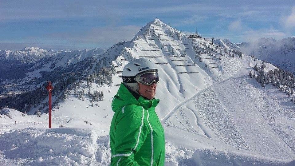 Marijke liefde voor wintersport