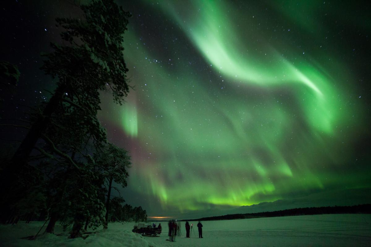 Wat is het noorderlicht toch prachtig