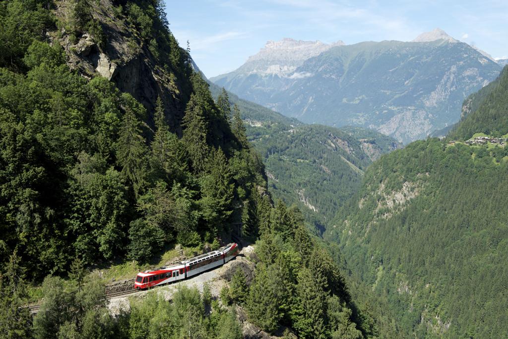 Beleef Zwitserland vanuit de trein. Copyright: Zwitserland Toerisme/Fascination Alpes Sarl