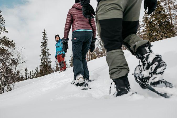 Voel de sneeuw onder je schoenen knisperen