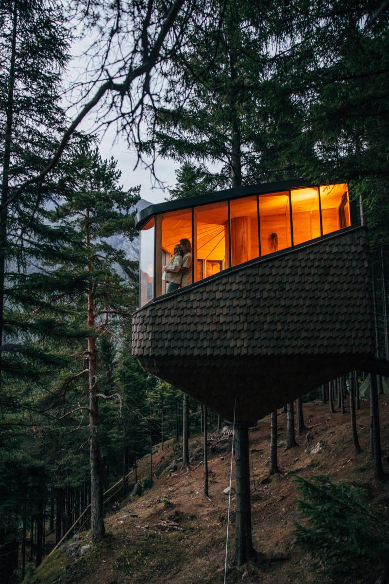 woodnest, treetop-cabin